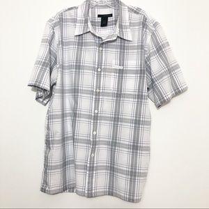 Men's Calvin Klein Plaid Short Sleeve Button Down